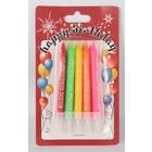 Boldog születésnapot feliratos, színes gyertya szett - 10 darabos