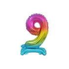 Beauty & Charm Balon folie în culorile curcubeului - cifra 8 de 38 cm