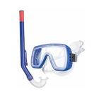 Salyas: Búvárszemüveg pipával, M méret - kék