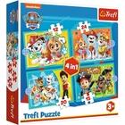 Trefl: Mancs Őrjárat 4 az 1-ben puzzle - 12, 15, 20 és 24 darabos