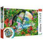Trefl: Trópusi állatok spirál puzzle 1040 darabos