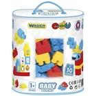 Wader: Baby Blocks építőkocka matricákkal - 30 db-os