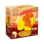 Wader: Baby Blocks Safari Építőkockák - Oroszlán