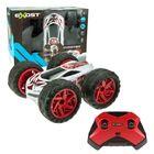 Silverlit: Gyrotex távirányítós kaszkadőr autó 1:12 - fehér-piros