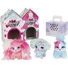 Present Pets: Mini kutyusok házikóban, 3 db-os csomag - Fluffy BFF's