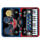 Covor muzical 2-în-1 Set de tobe și sintetizator, albastru-roșu - 90 x 69 cm
