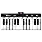 Óriás zongora zenélő játszószőnyeg, fekete-fehér - 180 x 82 cm