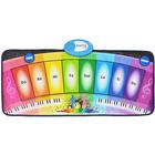 Zongora játszószőnyeg szolmizációs hangokkal, szivárványszínű - 80 x 35 cm