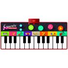 Óriás zongora zenélő játszószőnyeg, színes - 180 x 82 cm