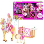 Barbie: Groom 'n Care - Set de joacă cu păpușă Barbie și cai