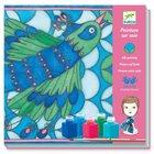 Djeco: Selyemsál festő készlet - Páva