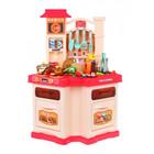 Super chef Set de bucătărie asiatic - roz - 77 de piese