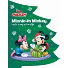 Disney: Carte de colorat de crăciun cu Minnie și Mickey - în lb. maghiară