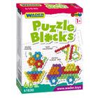 Wader: Puzzle Blocks elemente de construcție - 40 buc