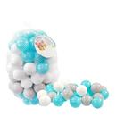 Műanyag labda csomag, 6 cm - 100 darabos, pasztell színek