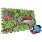 Thomas: szőnyeg puzzle Thomas mozdonnyal - 45 x 76 cm, 6 db-os