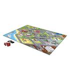 Covoraș de joacă moale cu model orașul de pe litoral și 2 mașinuțe - 150 x 100 cm