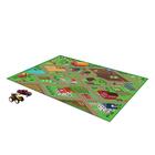 Óriás játszószőnyeg kisautóval és traktorral - farm, 150 x 100 cm