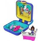 Polly Pocket: Mini-set albastru - Plaja tropicală a lui Shani