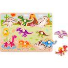 Tooky Toy: Fa forma puzzle, dínók - 9 darabos