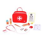 Tooky Toy: Kis doktor táska fa kiegészítőkkel - 11 db-os