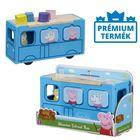 Peppa Pig: Autobuz școlar și sortator din lemn