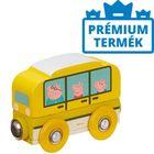 Peppa Pig: Autobuz școlar din lemn, cu magnet