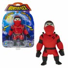 Monster Flex: Nyújtható szörnyfigura, S2 - piros Ninja