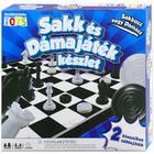 Sakk és dámajáték készlet - CSOMAGOLÁSSÉRÜLT