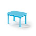 Műanyag asztal - világoskék - CSOMAGOLÁSSÉRÜLT