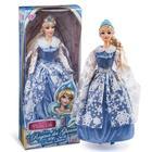 Hókirálynő hercegnő baba kék ruhában