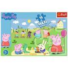 Trefl: Peppa Pig - puzzle Maxi cu 15 de piese