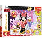 Trefl: Minnie Mouse și moda - puzzle cu glitter cu 100 de piese