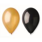 Beauty and Charm Set de 5 de baloane de 30 cm - negru și auriu