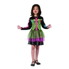 Costum Schelet colorat pentru fetițe - mărime 110-120