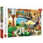 Trefl: Kilátás Barcelona városára puzzle - 2000 darabos
