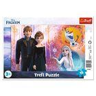 Trefl: Frozen 2 - Anna și Kristoff - puzzle cu chenar cu 15 piese