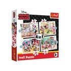 Trefl: Minnie egér barátaival 4 az 1-ben puzzle - 12, 15, 20, 24 darabos