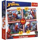 Trefl: Eroul Spiderman - puzzle 4-în-1 de 35, 48, 54, 70 de piese