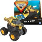 Monster Jam - Click & Flip: Mașinuță Earth Shaker cu roți volante