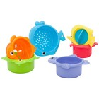 Playgo: Egymásba rakható fürdőjáték szett, vízi állatok - 6 db-os