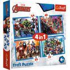 Trefl: Bátor bosszúállók 4 az 1-ben puzzle - 35, 48, 54, 70 darabos