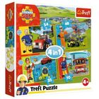 Trefl: Curajosul Pompierul Sam - puzzle 4-în-1 de 35, 48, 54, 70 de piese