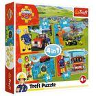 Trefl: Sam, a bátor tűzoltó 4 az 1-ben puzzle - 35, 48, 54, 70 darabos