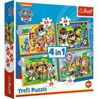 Trefl: Mancs őrjárat vakáción 4 az 1-ben puzzle - 35, 48, 54, 70 darabos
