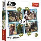 Trefl: Star Wars Mandalorian - puzzle 4-în-1 de 35, 48, 54, 70 de piese