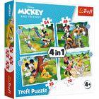 Trefl: Szép nap Mickey számára 4 az 1-ben puzzle - 35, 48, 54, 70 darabos