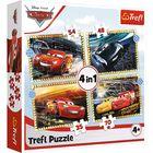 Trefl: Cars 3, Pe locuri, fiți gata, start! - puzzle 4-în-1 de 35, 48, 54, 70 de piese