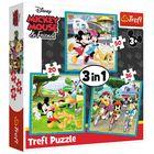Trefl: Mickey egér a barátaival 3 az 1-ben puzzle - 20, 36, 50 darabos
