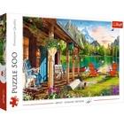 Trefl: Casă la munte- puzzle cu 500 piese